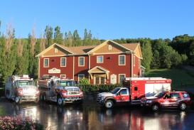 Caserne et camions incendies